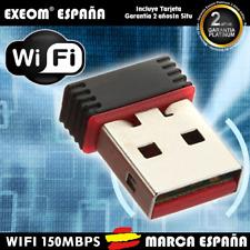 Antena Wifi USB Adaptador Wireless Mini 150Mbps Wi-Fi LAN Gran Potencia Señal