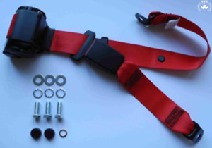 Dreipunkt Automatic Seat Belt (Rear) For MG Mga, Mgb, Td and Others, Red