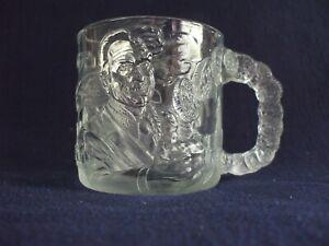 McDonalds BATMAN FOREVER Two Face DC COMICS 1995 Clear Glass Mug Cup
