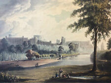 Windsor Castle from Eton Playground, 1819 J Gendall T Sutherland London England