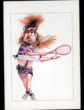 SPORT TENNIS / André AGASSI illustré Caricature par DEVO
