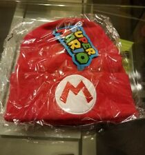 Official Nintendo Super Mario Red Mario Hat Knit Beanie by Culturefly NEW w/ Tag