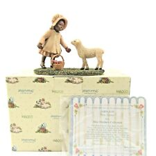"""Mint vtg Enesco Miss Martha's Sara Lou """"Here Lammie"""" #443301 Box God's Children"""