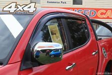 Per Mitsubishi L200 2006+ deflettori del vento Set-DOPPIA CABINA (4 pezzi)