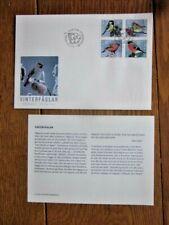 Sweden Winter Birds 4 Stamp Set 2004 Fdc + Info Sheet