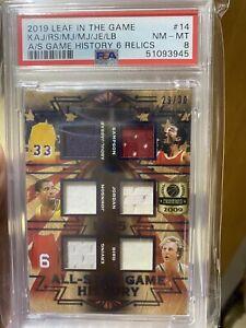 2019 Leaf In the Game A/S 6 Relic Michael Jordan Magic #14 PSA NM-MT #'D 29/30