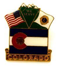 Pin Spilla Lions International Colorado We Serve cm 3,1 x 3,7