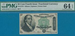 FR.1379 .50 CENT FOURTH ISSUE FRACTIONAL PMG CERTIFIED  CHOICE NEW 64EPQ