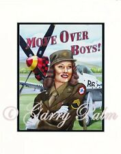 """Move over Boys -Army Air Corp. "" 11x14 Open Edition Print by artist Garry Palm"