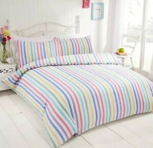 Rapport Candy 100% Brushed Cotton  Double Duvet Set CHEAPEST ON EBAY