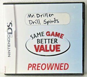 MR DRILLER DRILL SPIRITS NINTENDO Case & card Used