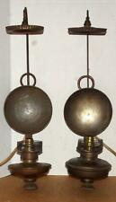 Vtg Early American Oil Lamp Wall Sconces Antique Primitive Oil Lamps Electrified