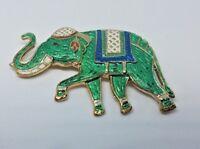 VINTAGE SIGNED WARNER ENAMEL ELEPHANT PIN BROOCH