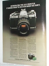 1980 Fujica Camera ad, Fujica AX-5, Fuji Film
