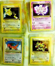 pokemon 1999 1st movie promo cards: Pikachu, Mewtwo, Dragonite & Electabuzz NP