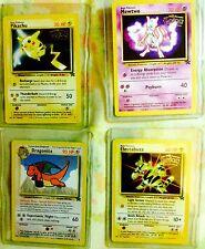 pokemon 1999 1st movie promo cards: Pikachu, Mewtwo, Dragonite & Electabuzz NP