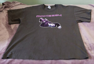 Morrissey Tour T shirt Earls Court 2004 Grey Extra Large
