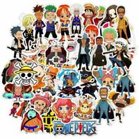 50Pcs Anime One Piece Luggage Stickers Skateboard Sticker Laptop Car Cxz