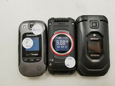 Lot of 3 Assorted Verizon Flip Phone's Check Imei Good Condition -Bt5571