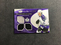 2006-07 UPPER DECK SWEET SHOT LUC ROBITAILLE STITCHES TRIPLE JERSEY #ed 9/299