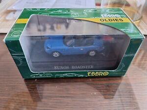 1/43 Ebbro Eunos Mazda roadster MX5 MX-5 NA car model (boxed, new)