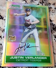 JUSTIN VERLANDER 2006 Bowman Chrome REFRACTOR Rookie Card RC Triple Crown Astros