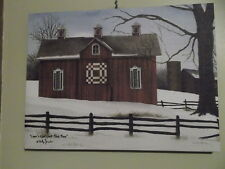 Lover's Knot Quilt Block Barn Canvas Print Billy Jacobs 12 x 16""