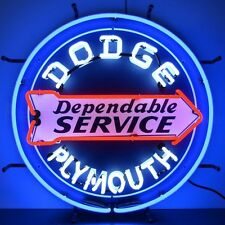 """Dodge Dependable Service Plymouth Neon Sign 24""""x24"""""""