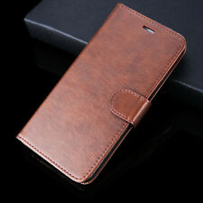 Luxury PU Leather Wallet Flip Phone Case Cover for Samsung Galaxy S5 Brown New