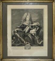 PORTRAIT DE LOUIS ANTOINE DE PARDAILLAN. GRAVURE PAR UN TARDIEU. RIGAUD. S.XVIII