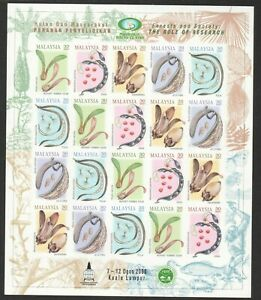 MALAYSIA 2000 FORESTS SOCIETY IMPERF. FULL SHEET OF 20 STAMPS (4 SETS) MINT MNH
