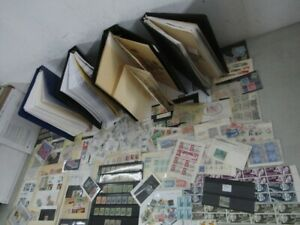 Nystamps Worldwide thousands mint used old stamp collection Albums in box