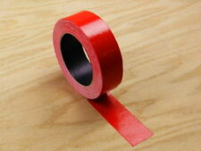 "1.5"" Red Colored Duct Tape Colors Waterproof UV Tear Resistant 25 yd 75' Roll"