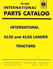 International Harvester 4135 4136 Loader Tractor Chassis Parts Catalog Manual IH