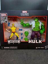 """Marvel Leyendas 6"""" 80th Aniversario Hulk Vs Wolverine Figura De Acción 2-Pack"""