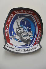 Columbia spacelab 1 patch sew on space