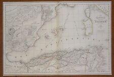 Map Carte ALGÉRIE Oran Constantine Koléah Bone Alger Atlas Delamarche 1848