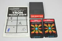 Tron Deadly Discs Intellivision w/ Cartridge, English French Manual, 2 Overlays