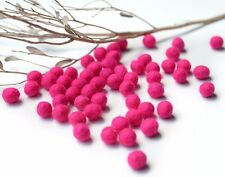 1cm HOT PINK Felt Balls x50.Wool.Party Decor.Pom poms.Felt Ball.Wholesale.
