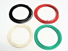 16 GAUGE WIRE WHITE GREEN RED BLACK  PRIMARY AWG STRANDED COPPER POWER 50' FT EA