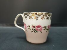 "RARE ROYAL ALBERT COFFEE CUP ""BRIDESMAID"" GOLD GILT AND PINK ROSES"