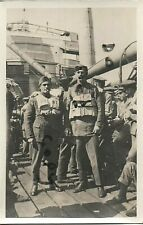 WW1 Air Mechanic in lifebelts aboard ship torpedoed RFC Royal Flying Corps