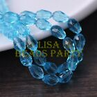 New 30pcs 12X8mm Faceted Teardrop Crystal Glass Spacer Loose Beads Lake Blue
