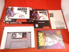 Madden NFL 98 (Super Nintendo Entertainment System, 1997) SNES COMPLETE Box 1998