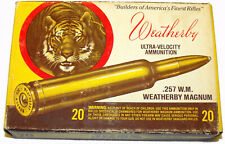 Early Weatherby Tiger Collector Ammo Box - 257 Wea Caliber - Nice Display - Rare