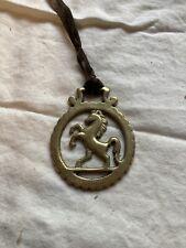 "New listing Vintage Brass 3"" Bucking Prancing HORSE Emblem Equestrian Western Decor"