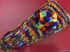 Adult Rainbow Knitted Winter Head Warmer - Adjustable!