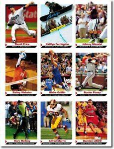 2013 JOHNNY MANZIEL SPORTS ILLUSTRATED 9 CARD LOT UNCUT SHEET W/ DAMIAN LILLARD!