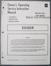 Original MTD Edger Owners Operating & Service Instruction Manual Model 244-600A