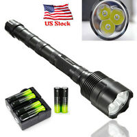 TrustFire 48000 Lumens 5 Modes CREE XM-L 3x T6 LED 18650 Flashlight Torch USA